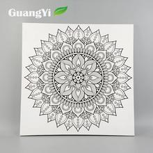 Modern style creative colour handmade pictures for fabric painting flower