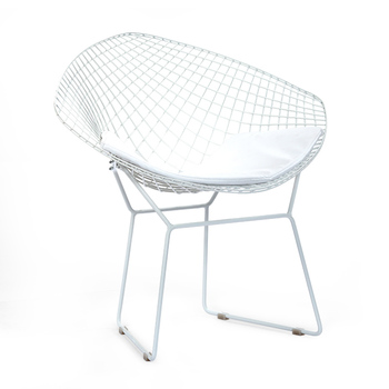 Modern Metal Wrought Iron Bar Mesh Chair for Room