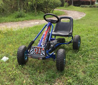 Stationary pedal kart with Inflatable tires
