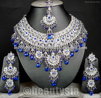 Silver Plated Indian Ethnic Jodha Akbar Jewellery Bollywood Necklace Set E55