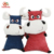 Factory Custom Soft Big Laughing Bull Stuffed Calf Toy Red And Blue Plush Cow Toy