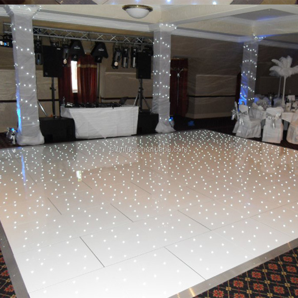 factory direct professional LED stage lights illuminated led star twinkling acrylic white dance floor