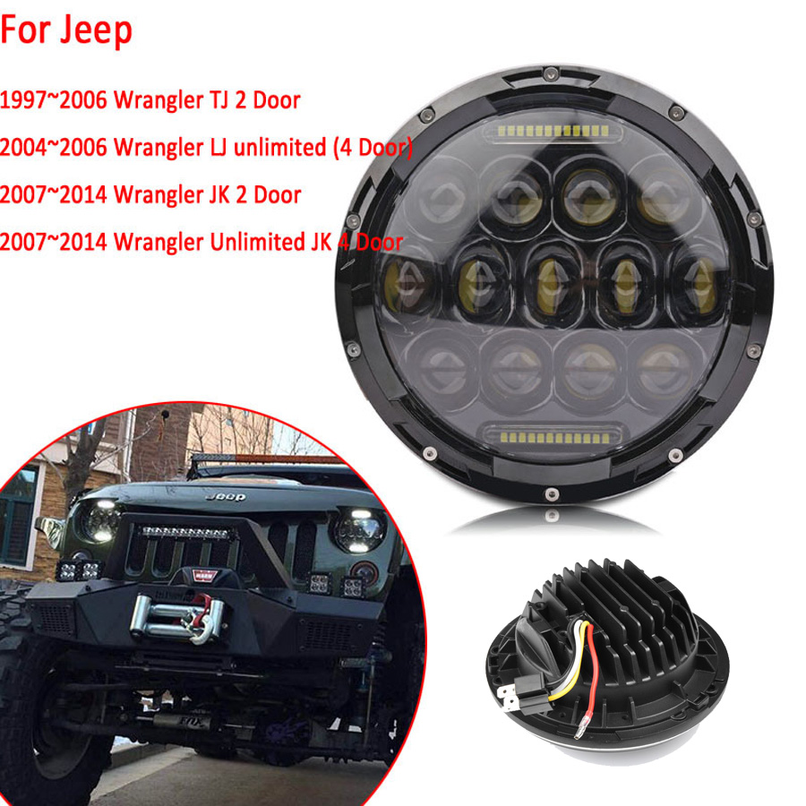 "CE off road 75w car driving light 10-30V round shape 7"" <strong>Cree</strong> led driving light With DRL"
