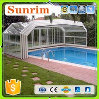 Family&Business Use Automatic Telescopic Swimming Pool Enclosures/Pool Cover
