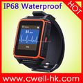 Sultra W08 1.54 inch HD Touch Screen MTK2502C Heart Rate Monitor Anti Lost Function Single SIM Watch Phone Waterproof