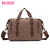 Multifunctional large messenger bag unisex guangzhou wholesale briefcase canvas genuine big leather handbag