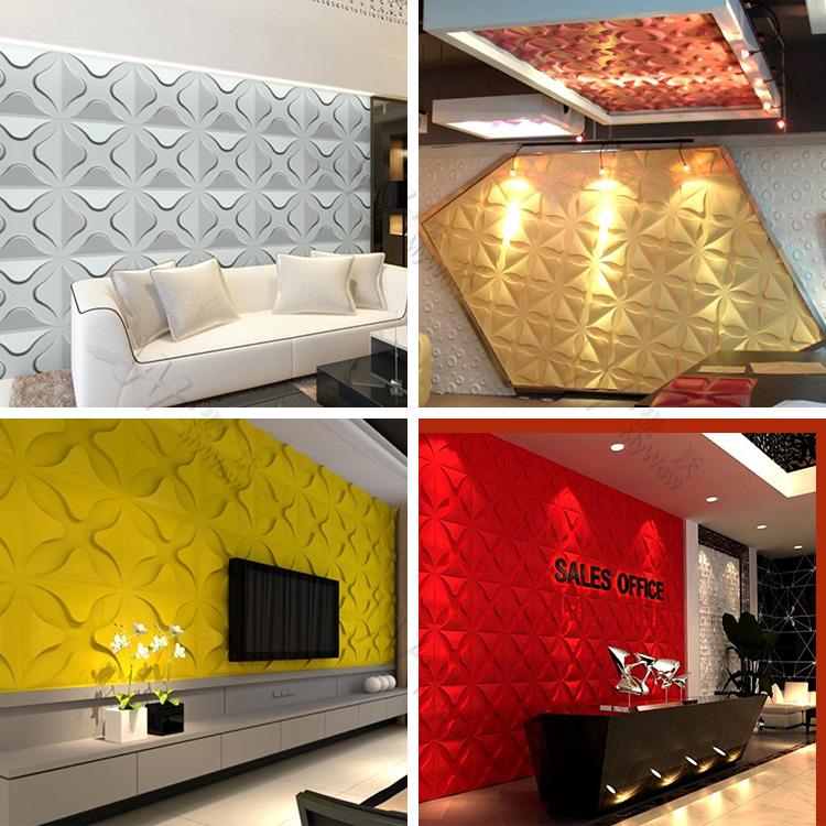 Waterproof Bathroom Decorative 3d Plastic Wall Panel