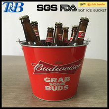 metal cooler ice bucket galvanized bucket