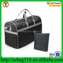 Wholesale china cheap sports waterproof foldable polyester material travel duffle bag with secret compartment