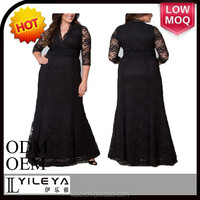 slap-up evening dress for fat women, hand embroidery designs plus size sexy pron dress