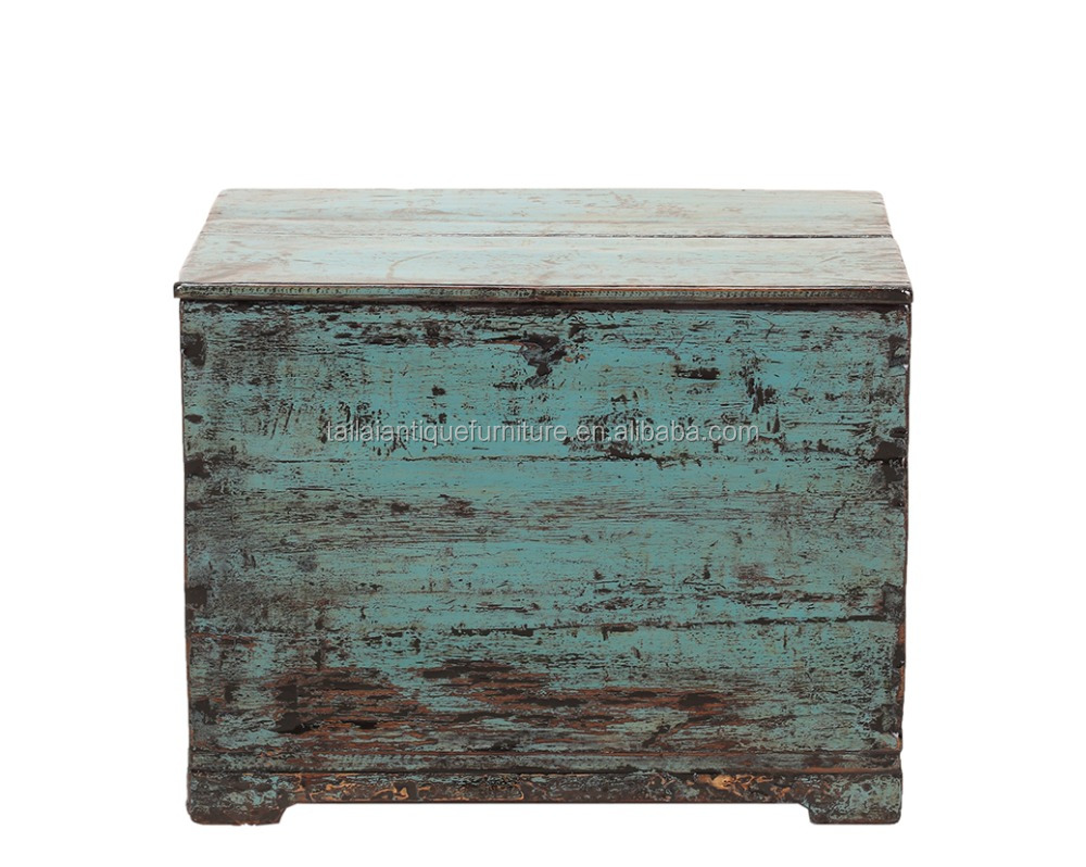 "25"" living room storage trunk Chinese antique furniture"