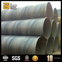 gas pipe / tube , pipe flange concrete lined steel piling tube / api 5l carbon steel pipes
