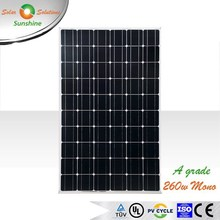 Sunshine 260w Mono A Grade Quality Solar Panel Solar Module for Off-grid/Grid-tied Roof-top Solar Power System