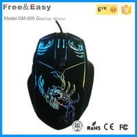 Multicolour light 6D wired optical gaming mouse