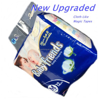 Fujian Factory New Upgraded Cheap Cotton Cloth Like Magic Tapes BABY FRIENDS Baby Diapers