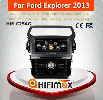 Hifimax car dvd GPS for Ford Explorer 2013 WITH A8 CHIPSET DUAL CORE 1080P V-20 DISC WIFI 3G INTERNET DVR