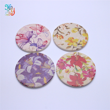 Wholesale Ceramic Coaster With Cork Back , Set Of 4 Flower Decorative Cup Holder For Gifts