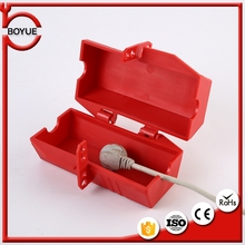 Red polypropylene safety locking device