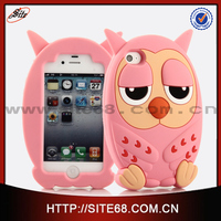 custom cute animal shape silicon cheap mobile phone case for iphone 5s