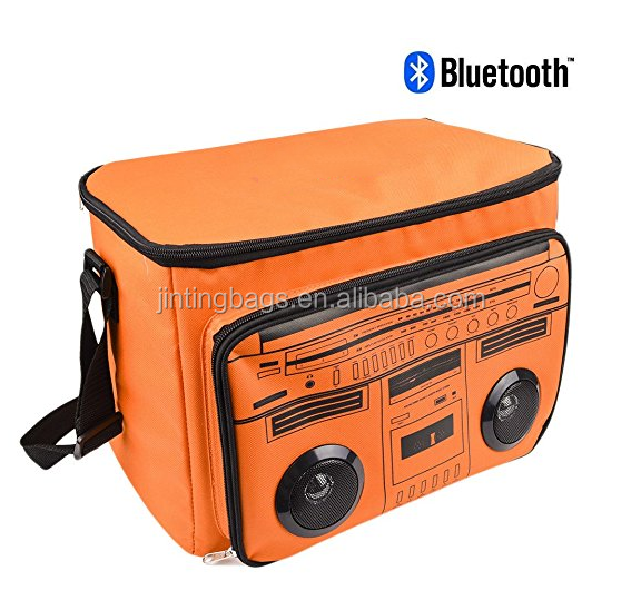 Bluetooth Speaker Cooler Bag, Insulated Cooler Bag with Wireless Bluetooth Speaker,Waterproof Picnic Cooler Beach Tote Box