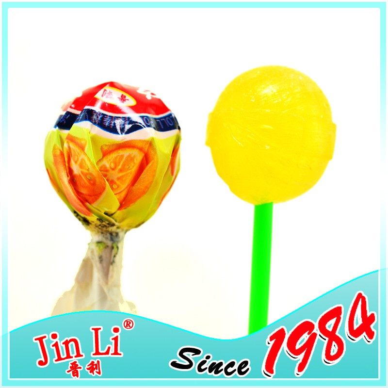 Lemon Flavor Ball Pops Sweets Hard Candy