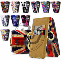 For Nokia Asha 501 High Quality Print Flip PU Leather Case Cover Moible Phone Case