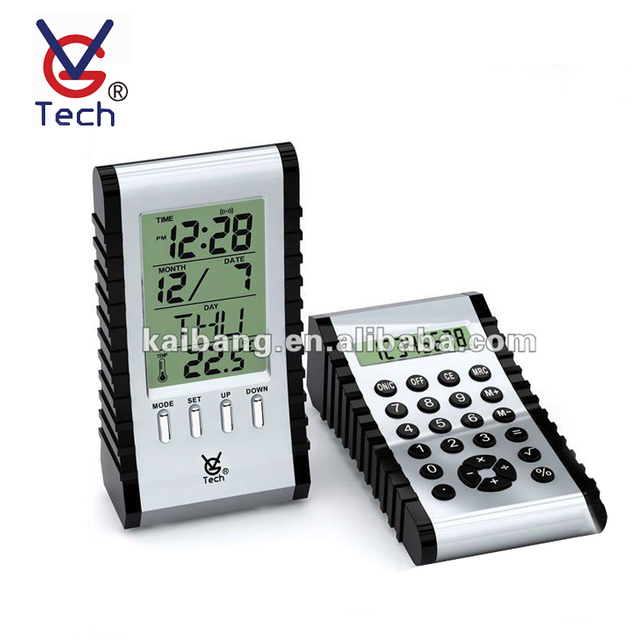 New Multi-Function Dual-Side Thermometer Display Calculator Table Alarm Clock