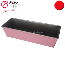 101103 wholesales bread loaf cake baking pan with non stick inside and color coating outside