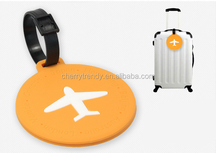 PERSONALIZED LUGGAGE TAGS SAFE TRAVEL TAG AIRPLANE