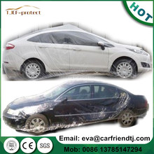 clear disposable universal plastic car cover