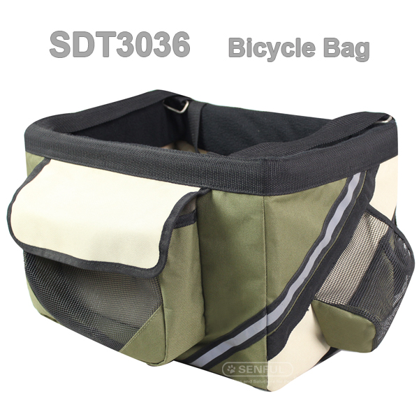 Lightweight fabric pet carrier bicycle bag portable bag
