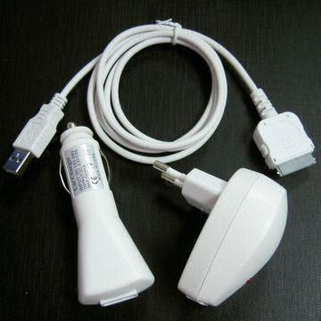 Accessories For PDA / Ipod - 3 In 1 Charger Kit For Apple IPod