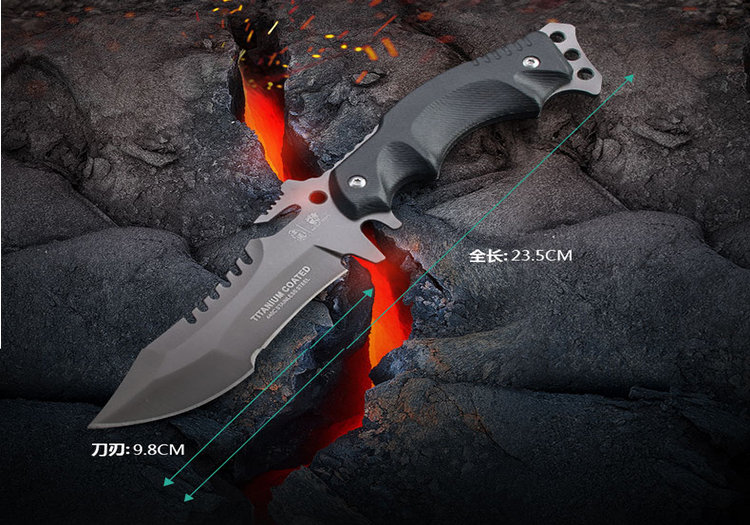 HX OUTDOORS Survival Knife Army Hunting 58hrc Hardness Straight Knives Essential tool For Self-defense Outdoor 9593