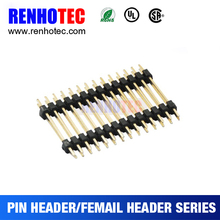 Gold Plated Dual Row 1.27mm Pitch 14pin Pin Header