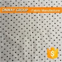 Onway print 70%/30% cotton/silk soft handfeel fabric with dot patterns