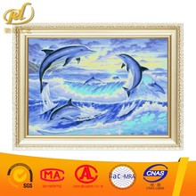 2017 new design dolphin dance diy crystal diamond embroidery painting glue unfinished nail arts for home decoration wall a207