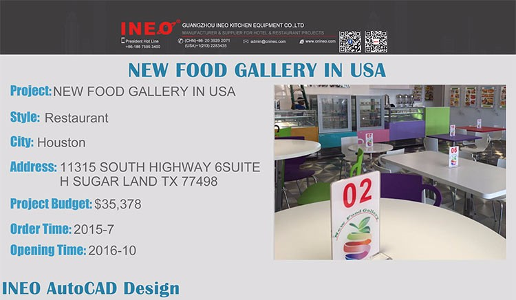 INEO Successful New Food Gallery In USA