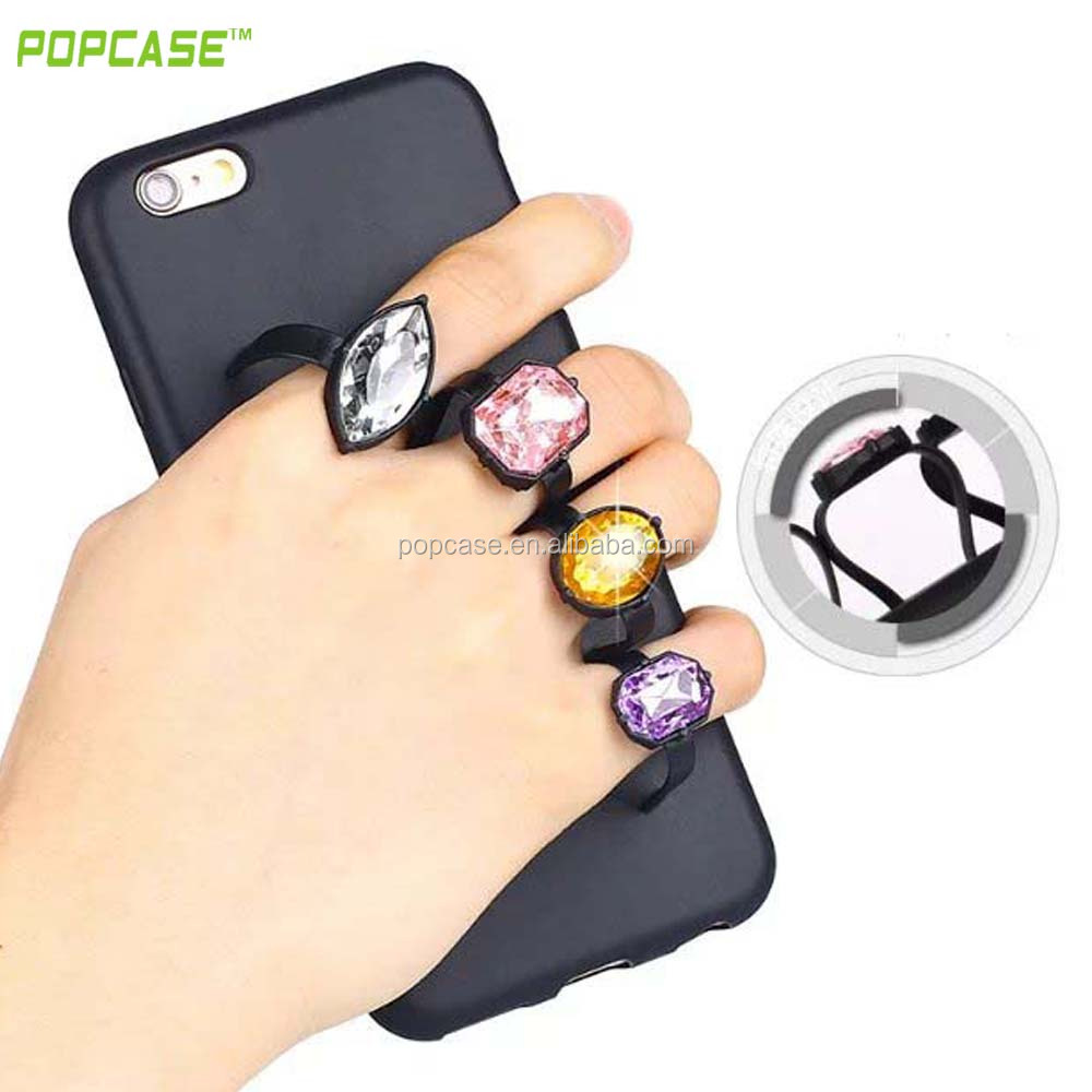 Luxury Fashion TPU Diamond Bracket Ring Phone Case for iphone 6