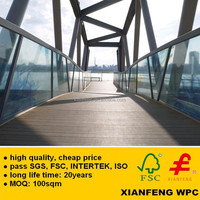 Outdoor WPC Decking Anti UV Wood Plastic Composite Boards Waterproof Exterior PE WPC Flooring