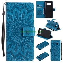 Hot Sale Embossed flower folio Leather Wallet Case For Samsung Galaxy Note 8