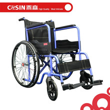 Lightweight Portable Stainless Steel Used Manual Hospital Folding Wheelchair C05902ZTL