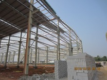 45000sqm prefabricated galvanized/painting steel structure warehouse