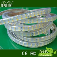 ac220 working transparent outdoor led strip light