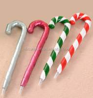 Resin Christmas walking stick ball pen gift pen promotional pen