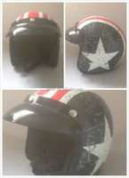 Motorcycle open face helmet DOT CE motorcycle casco alien indonesia market vintage helmet face shield