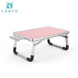 Portable Adjustable folding movable multipurpose simple small foldable laptop desk table for home bed
