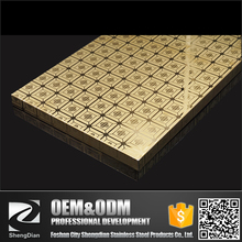 SUS PVD Coated Cold Rolled Etching Stainless Steel Sheet For Wall Panel Kitchen Decoration