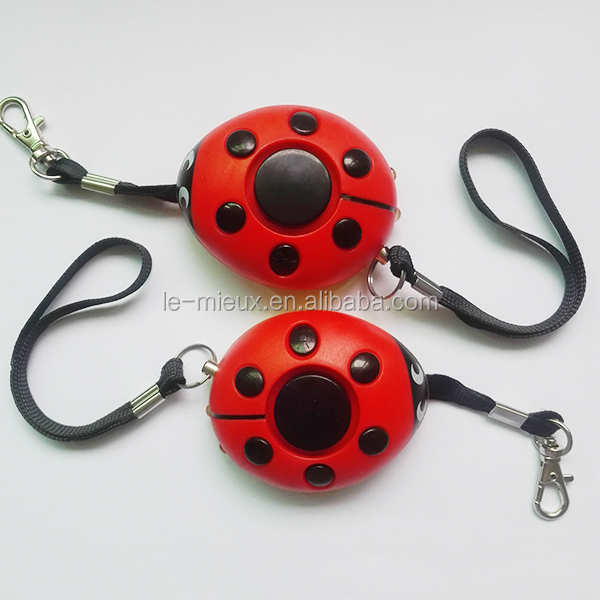 Produce Strobe Ladybug Ladybettle Ladybird 140db Anti - Rape Attack Riot Panic Personal Security <strong>Alarm</strong> with Flashlight