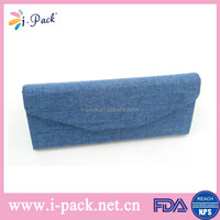 China manufacturer custommade jean cloth floding sunglasses case hard case for sunglasses wholesale