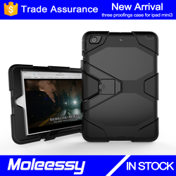 Extreme-Duty Military Transformer Hybrid Shockproof & Drop Resistance Anti-slip Soft Silicone Case Cover for iPad Mini3